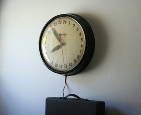 Vintage military wall clock 1
