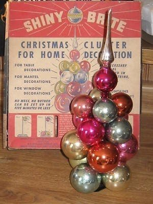 Vintage Light Up Red Christmas Tree Topper Spire with Original Box Made in USA Retro Christmas Tall Pointed Red Plastic Ornate Tree Top