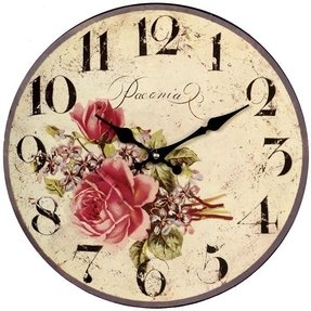 Vintage wall clocks details reviews delivery vintage rose clock gorgeous