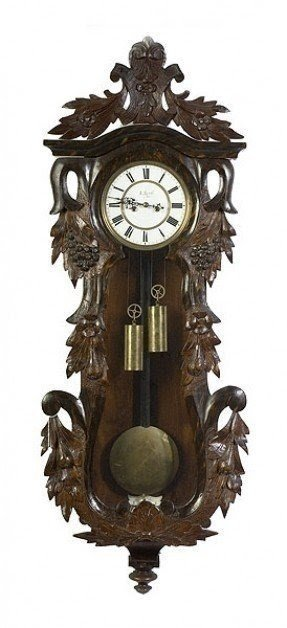 Walnut wall clocks 1