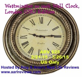 Westminster 20-Inch Clock - London (UK) Edition - Decorative Wall Decor - Lifetime No-Hassle Free Guarantee