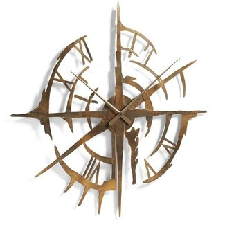 Wrought iron pendulum wall clock