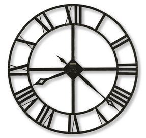 Wrought iron wall clock 1