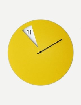 Yellow wall clocks