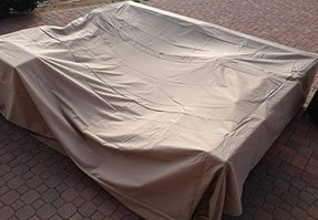 All Weather Outdoor Patio Furniture Cover in Beige - Heavy Duty Garden Furniture Cover