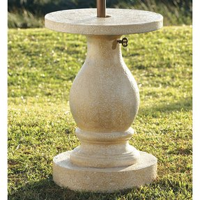 Baluster patio umbrella stand traditional coat stands and umbrella stands