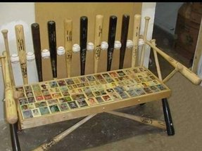 Baseball bat bench plans