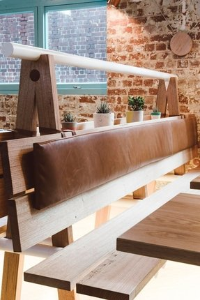 Bench seating restaurant