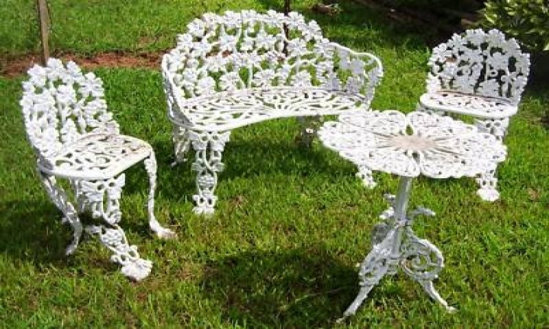 cast iron patio furniture sets ideas on foter rh foter com Heavy Cast Iron Outdoor Furniture Vintage Wrought Iron Patio Furniture