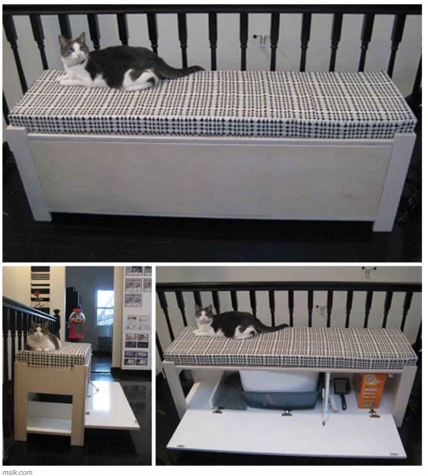 Bon Cat Litter Box Bench   Ideas On Foter