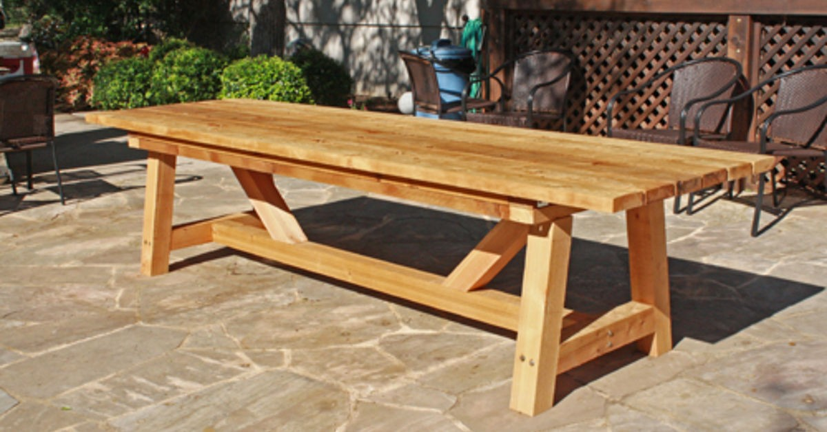 Beau Cedar Patio Tables