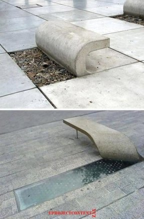 Concrete patio benches 3