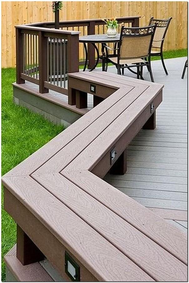 Deck Bench Part Railing Part Bench