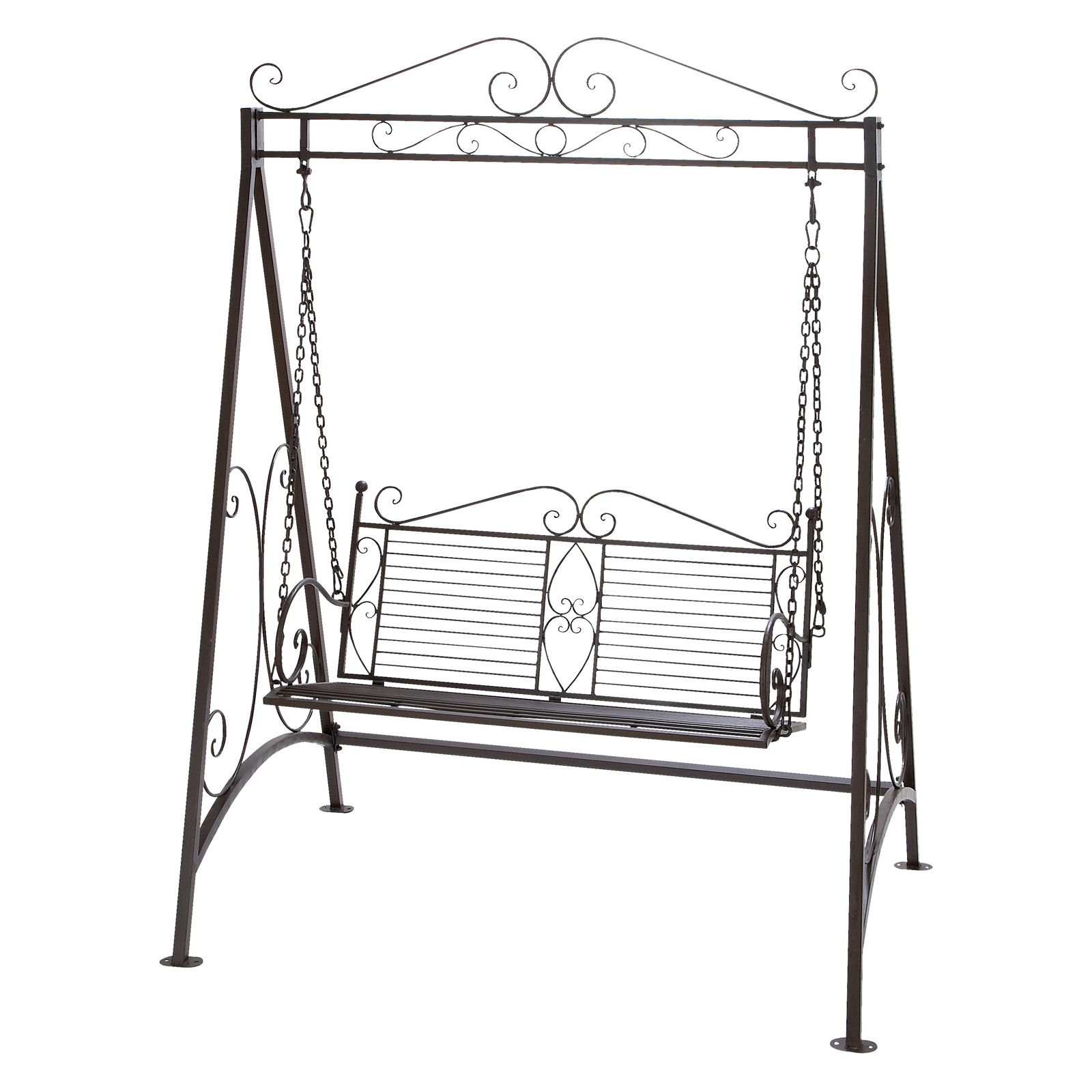 Delightful Deco 79 Metal Garden Swing, 87 Inch By 62 Inch
