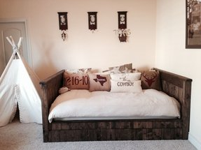 how to make a wooden daybed frame