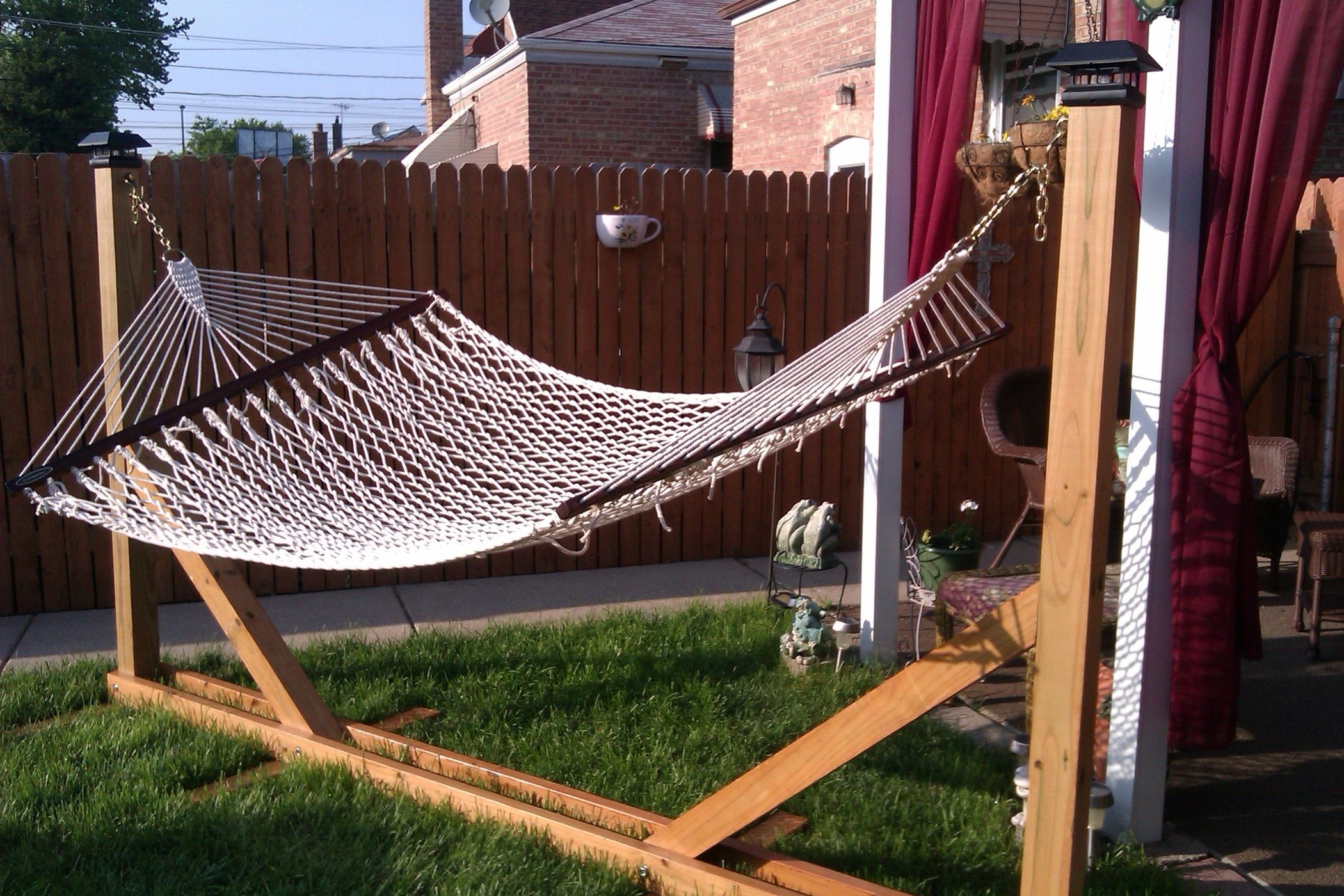 diy hammock stand save yourself time and energy and have patio hammock stands   foter  rh   foter