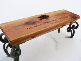 Engraved bench 1