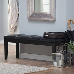 Finley Home Palazzo Backless Bench -, Black, Wood