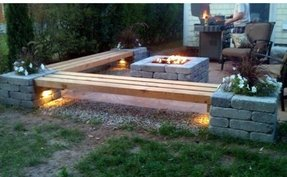 Fire pit benches 1
