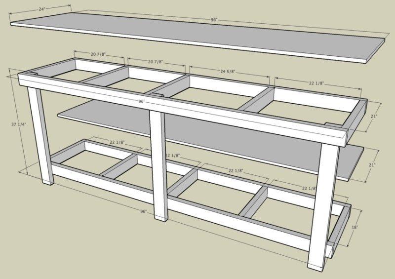 Garage Work Benches 1