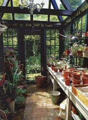 greenhouse shelves diy