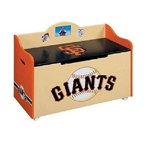 Guidecraft Major League BaseballTM - Giants Toy Box by Guidecraft