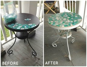 How to paint glass table top