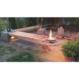 Hull patio pergola propane fire pit custom benches pillar planters