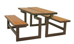 Lifetime convertible wood and metal park bench 5