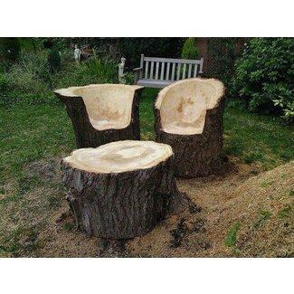 Strange Log Benches Ideas On Foter Interior Design Ideas Tzicisoteloinfo