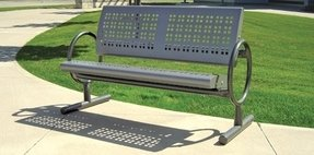 Metal park benches 2