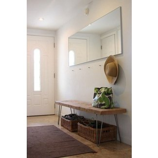 Narrow upholstered bench
