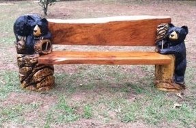 Outdoor bench black 9