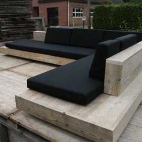 Outdoor bench black