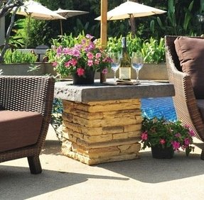 Outdoor Umbrella Stand Side Table
