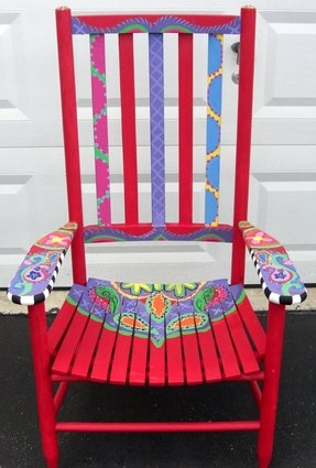 Painted benches 6