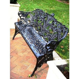 Sensational Wrought Iron Patio Benches Ideas On Foter Camellatalisay Diy Chair Ideas Camellatalisaycom