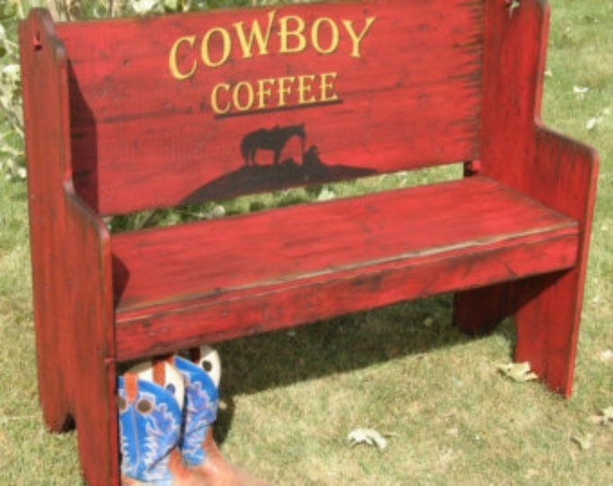 Santa fe style bench seat western bench