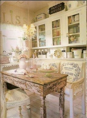 Shabby chic benches