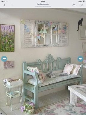 Shabby chic benches foter for Commode style shabby