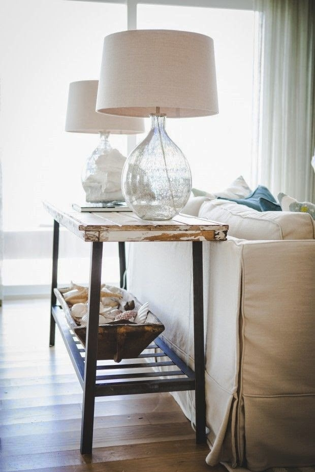 Clear Table Lamp 13. Sofa Table With Baskets