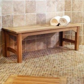 Teak Bathroom Bench