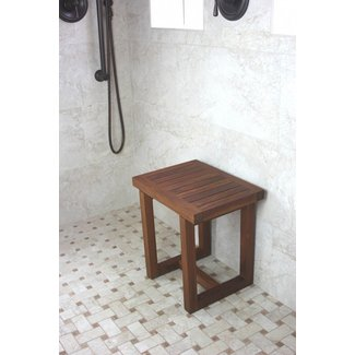 Teak shower benches 1