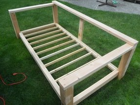 Wood daybed frames