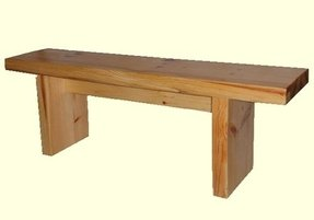 Wooden benches indoor