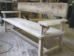 Wooden park benches 2