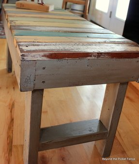 Wooden work benches 1