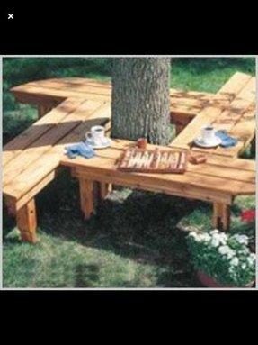 Astonishing Tree Benches Ideas On Foter Machost Co Dining Chair Design Ideas Machostcouk