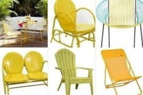 Yellow patio chairs
