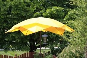 9' Wind Resistant Lotus Fiberglass Patio Umbrella - Yellow